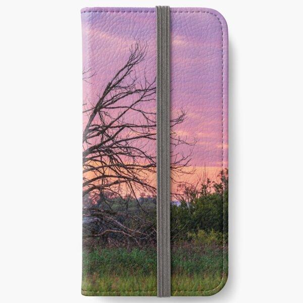 Alter Baum im Sonnenaufgang iPhone Flip-Case