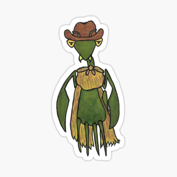 Mantis Rides Again Sticker