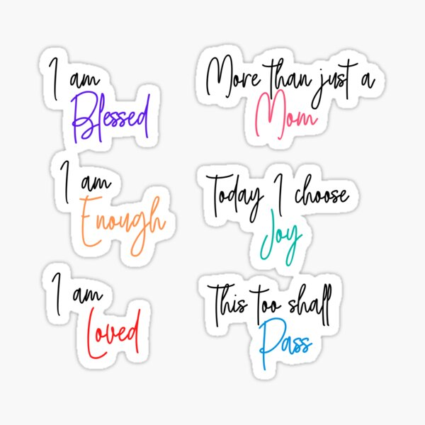 Mom Affirmation Sticker Pack | ORDER A MEDIUM OR LARGE Sticker Sticker