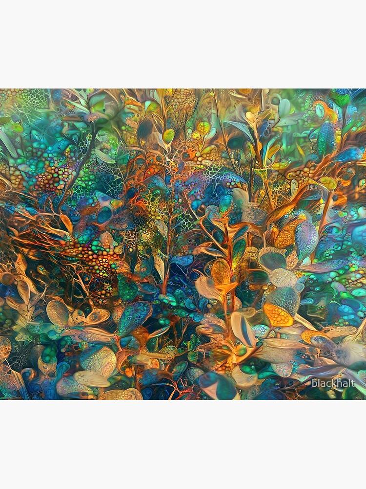 Flower abstract digital painting by blackhalt