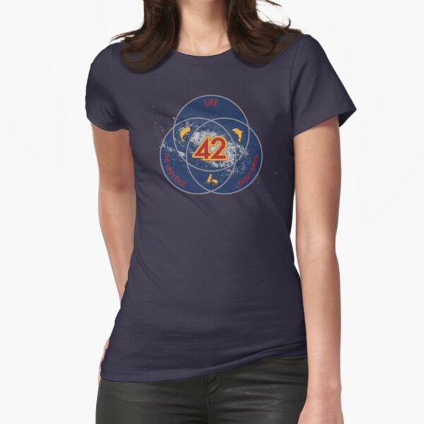 The Answer to Life, the Universe & Everything (Ultimate Venn Version) Fitted T-Shirt