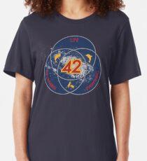 Camiseta ajustada La respuesta a la vida, el universo y todo (Versión definitiva de Venn)