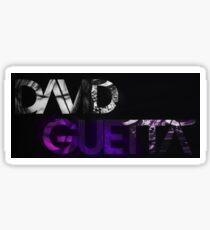 David Guetta logo black Sticker