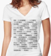 Radiohead - Creep Women's Fitted V-Neck T-Shirt