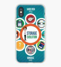 Infographic Storage Evolution cd rom zip disk ram memory floppy disc minidisc  iPhone Case