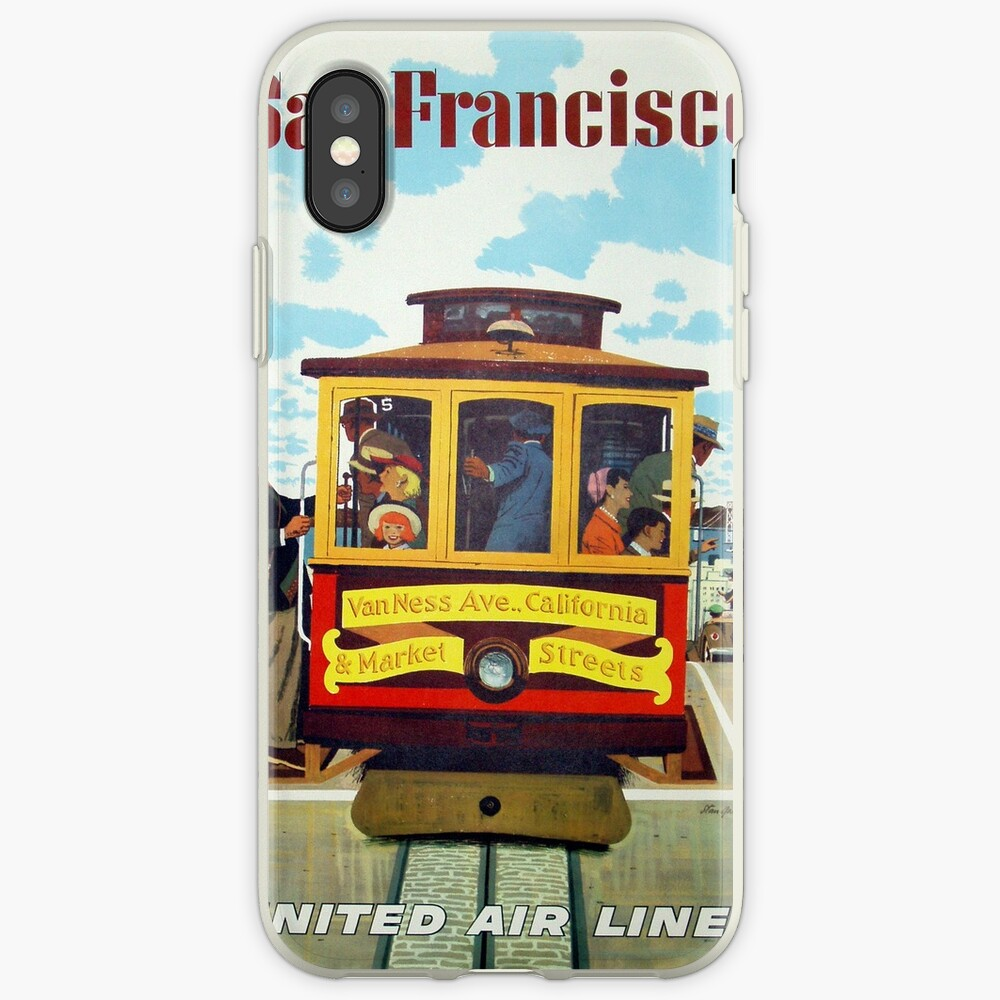 Weinleseplakat - San Francisco iPhone-Hülle & Cover
