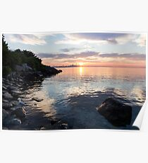 Silky Smooth and Transparent - Toronto Sunrise on the Lake Poster