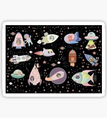 OUTER SPACE CANINES & FELINES Sticker