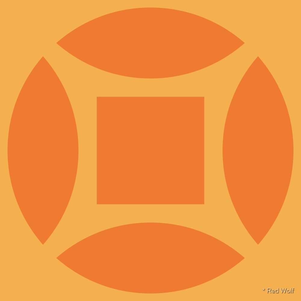 Geometric Pattern: Intersect Square: Citrus by * Red Wolf
