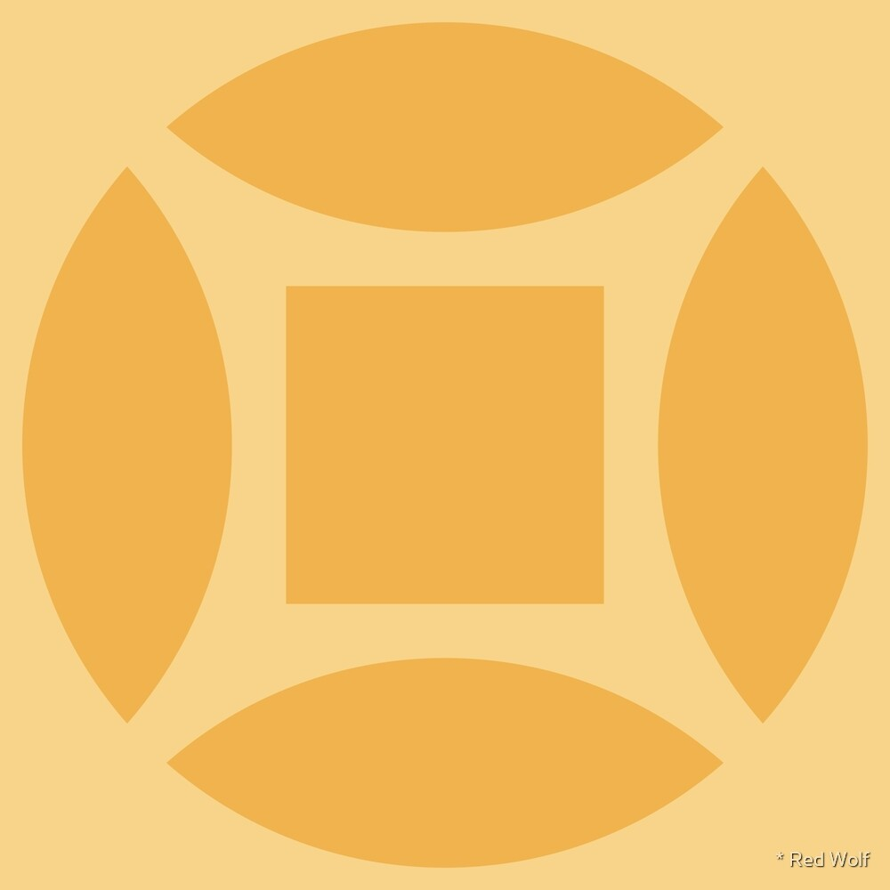 Geometric Pattern: Intersect Square: Lemon by * Red Wolf