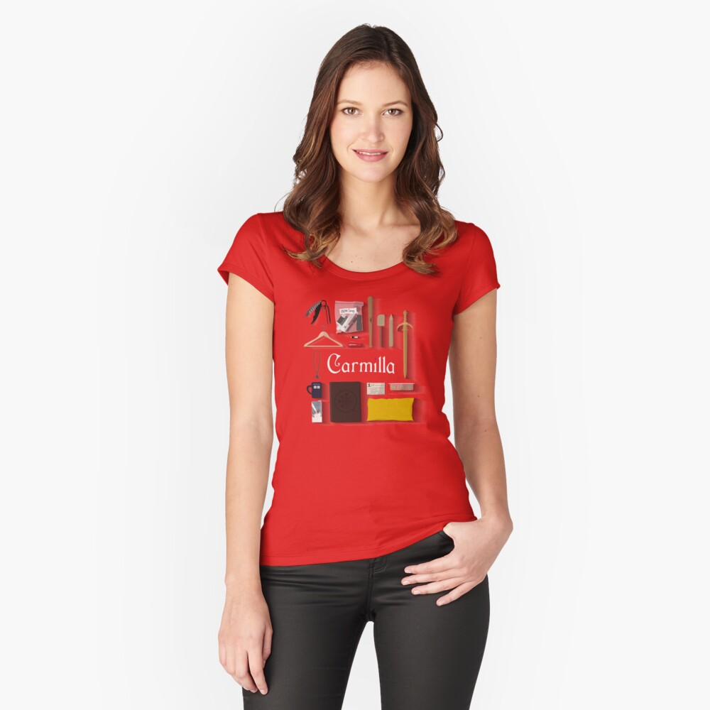 Artículos de Carmilla Camiseta entallada de cuello ancho