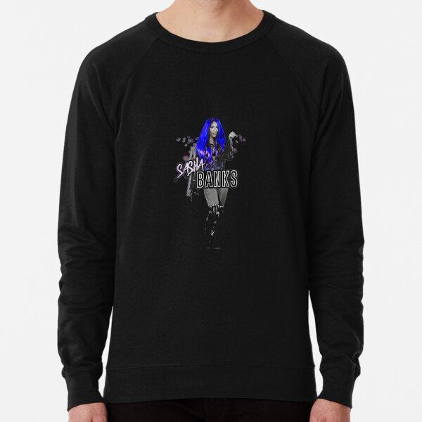 Wwe Sasha Banks Atomic Blue T shirt Lightweight Sweatshirt