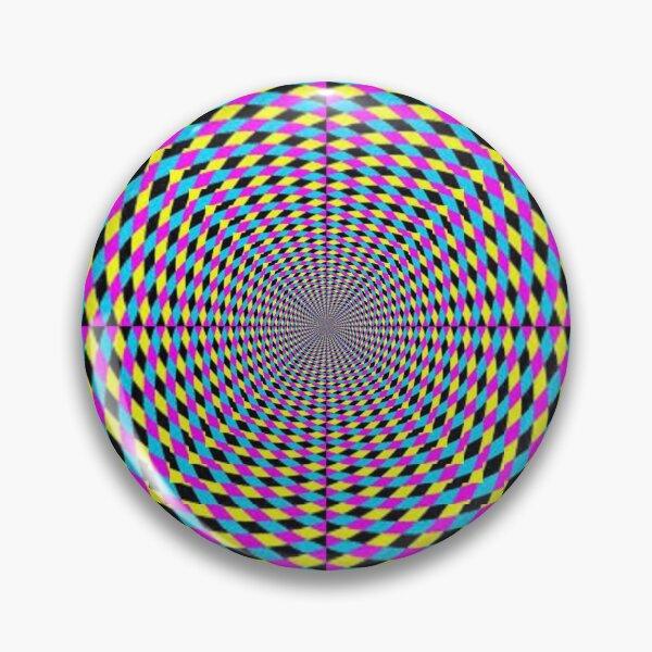 Colorful vortex spiral, hypnotic cmyk background, optical illusion Pin