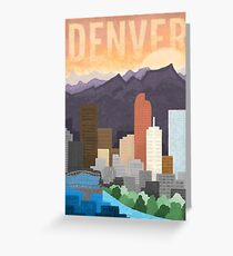 Mile High City Greeting Card