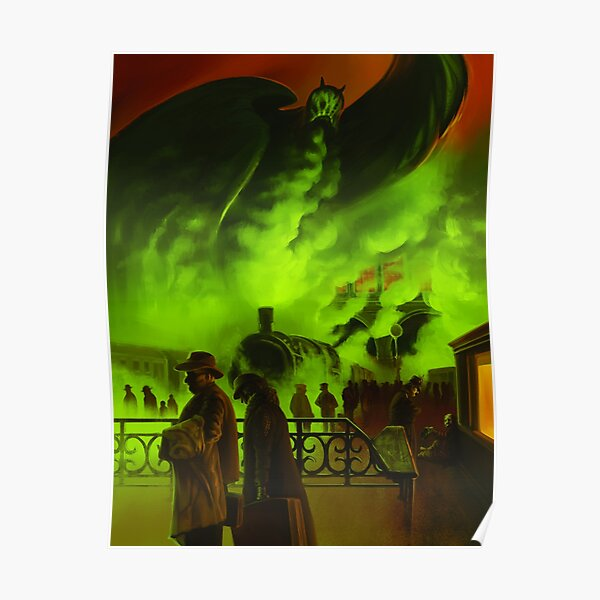 Cthulhuween Day 14 - Train to Berlin by Chris Huth Poster