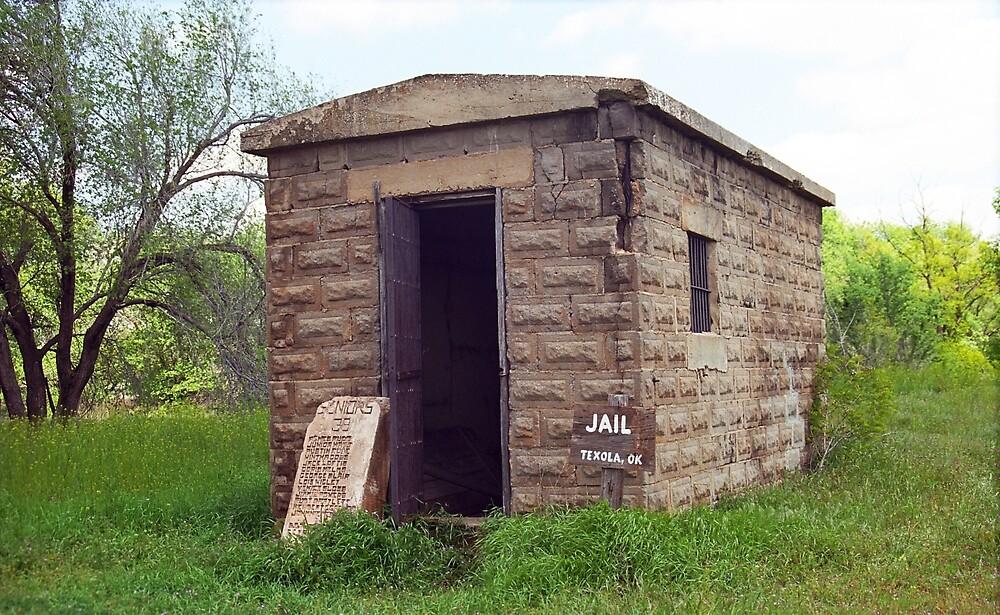 Route 66 - Texola Jail by Frank Romeo