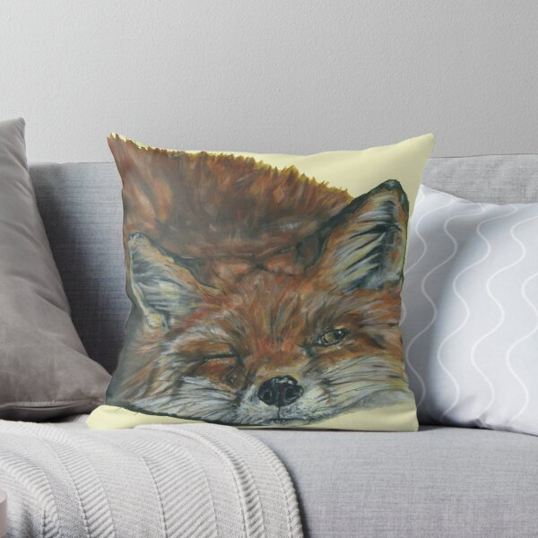 Got My Eye On You. Best-selling Fox Art by Sam Fenner Throw Pillow
