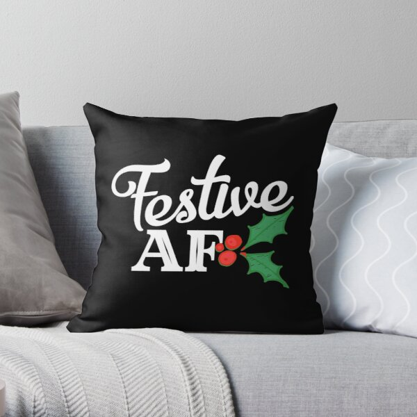 Festive AF Throw Pillow