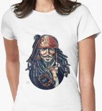 Cap'n Jack Sparrow by Indigo East Women's Fitted T-Shirt