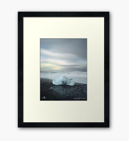 Black Sand Iceberg Framed Print