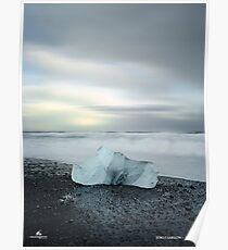 Black Sand Iceberg Poster