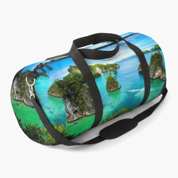 Turqoise Blue Ocean from Cliff - Triton Bay Indonesia Duffle Bag