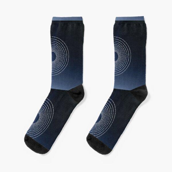 Carl Sagan, Pale Blue Dot - cosmos, astronomy - revisited 2020   Spiral Design Socks