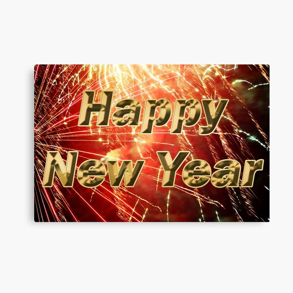 Happy New Year with a Bang! Canvas Print