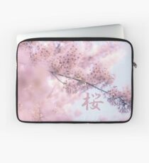 Lovely Light Pink Ethereal Glowing Cherry Blossoms Laptop Sleeve