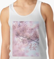 Lovely Light Pink Ethereal Glowing Cherry Blossoms Tank Top
