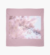 Lovely Light Pink Ethereal Glowing Cherry Blossoms Scarf