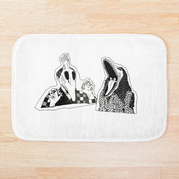 Adam & Barbara Monster Couple Beetle Juice Inspired Halloween 80's Goth Cult Film Bath Mat