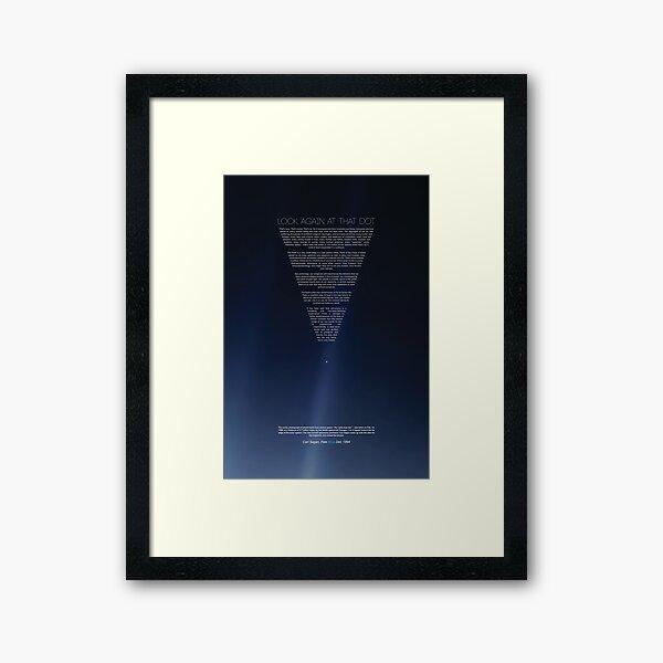 The Pale Blue Dot - Carl Sagan | version 2.0 2020 revisited Framed Art Print