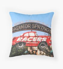 Radiator Springs Racers Throw Pillow