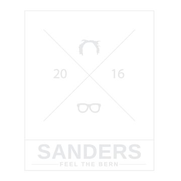 Bernie Sanders Minimal - White by bluzink