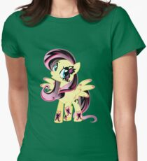 Goth Fluttershy Womens Fitted T-Shirt