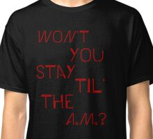 """One Direction """"A.M."""" Design Classic T-Shirt"""