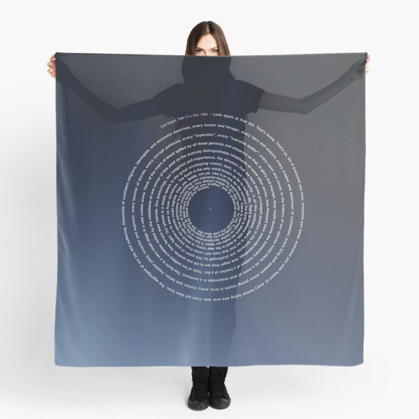 The Pale Blue Dot - Carl Sagan 2020 revisited | X-design Scarf