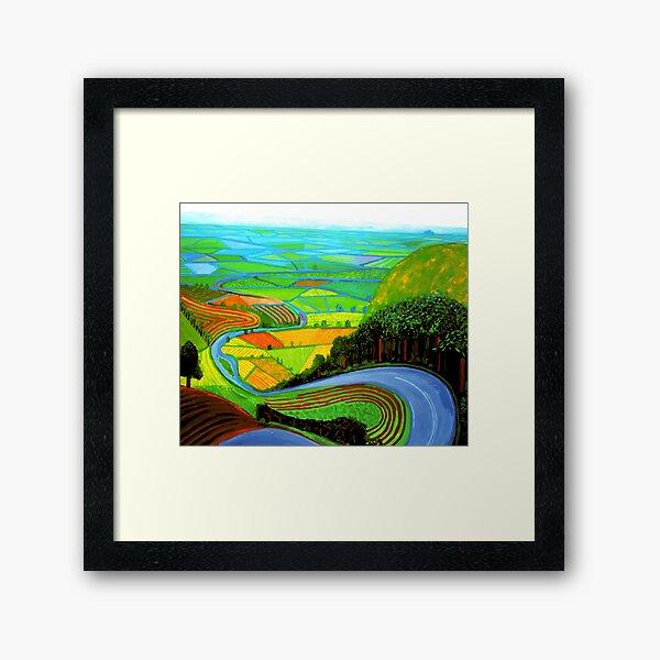 Blue Garrowby Hill Framed Art Print