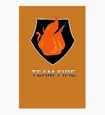 Team Fire Photographic Print