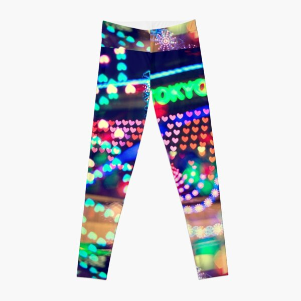Love Tokyo Dome Colorful Psychedelic Heart Bokeh Lights  Leggings