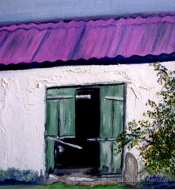 An old barn on a farm in Kradouw, Cape. by Elizabeth Kendall