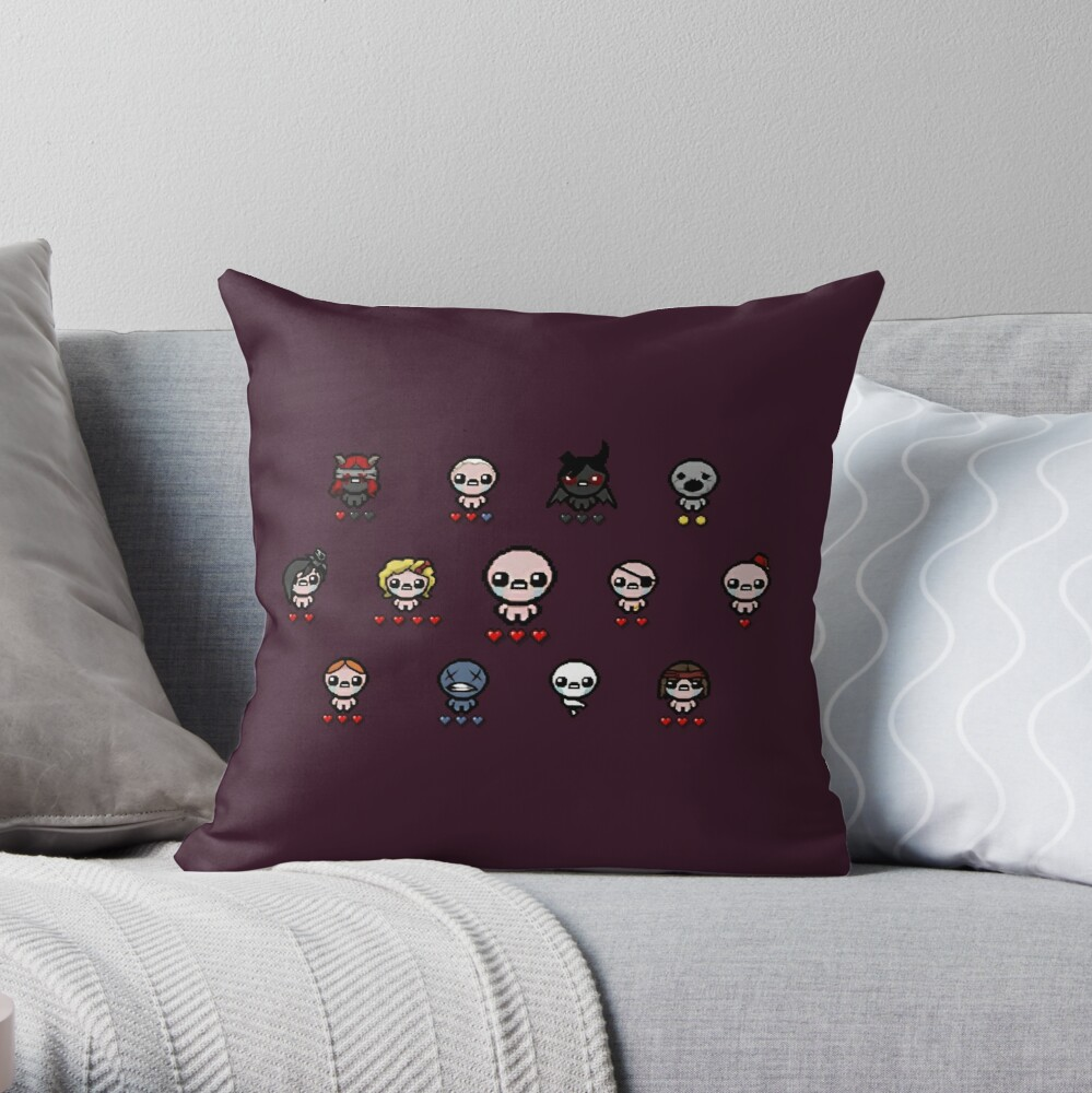 """The Binding Of Isaac"" Throw Pillow By Danielo404"