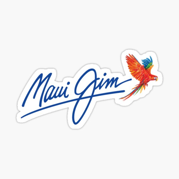 "the ""-maui"" Hawaii beach style and fashion -JiM'- factory merch Sticker"