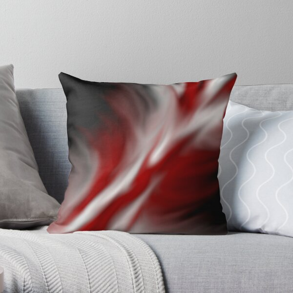 Decorative Red And White Throw Pillow