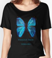 Beautiful Blue Butterfly Proceeds donated to DebRa.org Women's Relaxed Fit T-Shirt