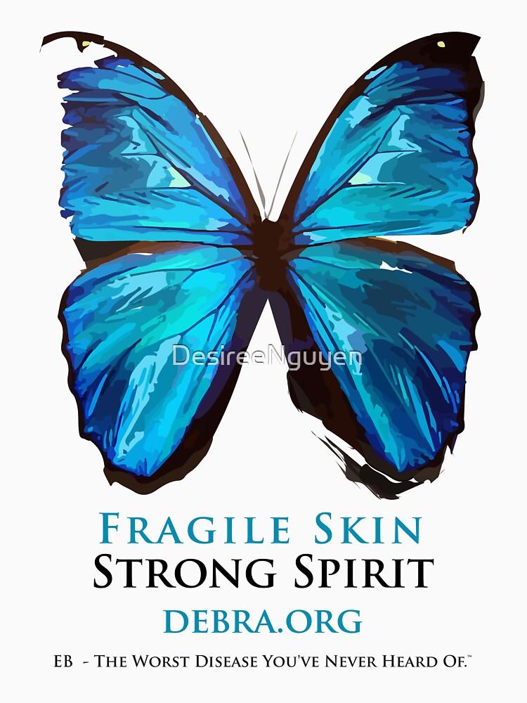 Beautiful Blue Butterfly Proceeds donated to DebRa.org by DesireeNguyen