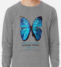 Beautiful Blue Butterfly Proceeds donated to DebRa.org Lightweight Sweatshirt