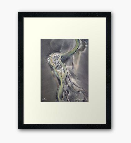 Roebuck Bay Runoff Framed Print