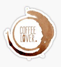 Pegatina Amante del café
